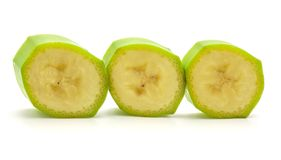 Grüne Banane der Banane lokalisiert Lizenzfreie Stockbilder
