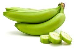 Grüne Banane der Banane lokalisiert Lizenzfreies Stockfoto