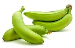 Grüne Banane der Banane lokalisiert Stockbilder