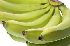 Grüne Bananen getrennt Lizenzfreies Stockbild