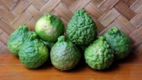 Grüne Bergamotte Stockfotos
