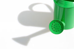 Grüne Bewässerungs-Dose Lizenzfreies Stockfoto
