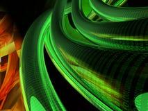Grüne binäre Seilzüge Stockfoto