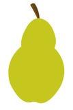 Grüne Birnenikone Stockfoto