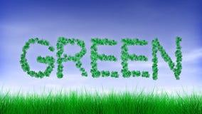 Grüne Blatt-Text-Animation vektor abbildung