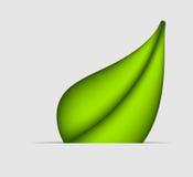Grüne Blattikone. Vektorabbildung Stockbild