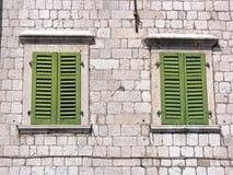 Grüne Blendenverschlüsse Stockfotos