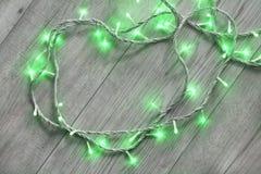 Grüne Blitzlichter Lizenzfreie Stockbilder