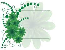 Grüne Blume mit Kreisen Stock Abbildung