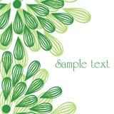 Grüne Blumen Stockfoto