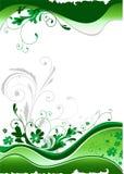 Grüne Blumenauslegung Stockbilder