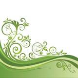 Grüne Blumenfahne lokalisiert Stockbild