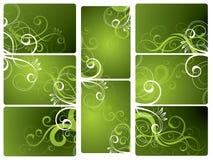 Grüne Blumenhintergründe Stockbild