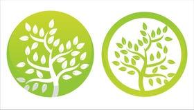 grüne Blumensymbole stock abbildung