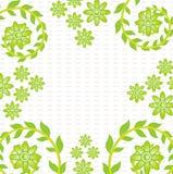 Grüne Blumentapete   Lizenzfreie Abbildung