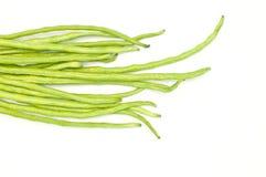 Grüne Bohnen auf weißem Hintergrund Lizenzfreies Stockbild