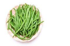 Grüne Bohnen der frischen Stangenbohnen Lizenzfreie Stockfotografie