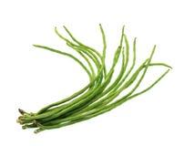 Grüne Bohnen lokalisiert auf weißem Hintergrund Lizenzfreies Stockfoto