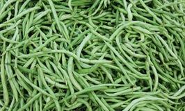 Grüne Bohnen am Markt Lizenzfreie Stockfotografie