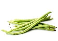 Grüne Bohnen oder Brechbohnen Lizenzfreies Stockbild