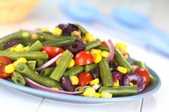 Grüne Bohnen-Salat Stockfotografie