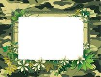 Grüne Camofulage-Karte Lizenzfreie Stockfotografie