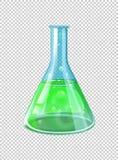 Grüne Chemikalie im Becher vektor abbildung
