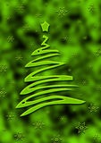 Grüne christmax Karte Stockfotos