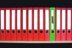 Grüne Datei lizenzfreie stockfotografie
