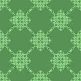 Grüne dekorative nahtlose Linie Muster Lizenzfreie Stockbilder