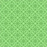 Grüne dekorative nahtlose Linie Muster Lizenzfreies Stockbild
