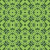 Grüne dekorative nahtlose Linie Muster Stockbild