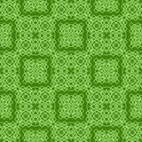 Grüne dekorative nahtlose Linie Muster Stockbilder