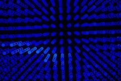 Grüne des abstrakten Hintergrundes kleine und blaue Kreise lizenzfreie stockfotos
