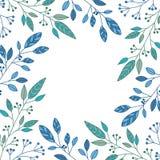 Grüne dewy Blätter auf weißem Hintergrund Stockbild