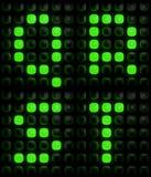 Grüne digitale Buchstaben Stockfoto