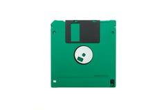 Grüne Diskette Lizenzfreie Stockfotografie