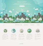 Grüne eco Stadt und stützbare Architektur Lizenzfreie Stockfotografie