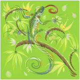 Grüne Eidechse Stockbild