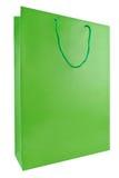 Grüne Einkaufstasche Stockfotos