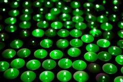 Grüne Energie Außer dem Planeten Weicher Hintergrund von Kerzen Stockbilder