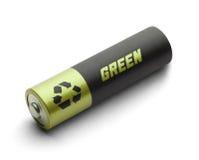 Grüne Energie-Batterie Stockfotografie