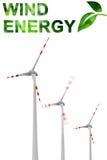 Grüne Energie des Winds Stockfoto