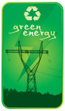 Grüne Energie und Leistung Stockbild