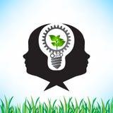 Grüne Energieeinsparung und Zähne, die Idee zusammenarbeiten stock abbildung