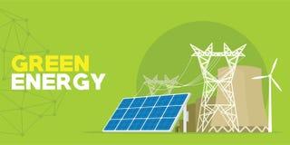 Grüne EnergieTriebwerkanlage vektor abbildung