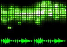 Grüne Entzerrer-und Ton-Kurve lizenzfreie abbildung