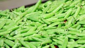Grüne Erbse im Markt Lizenzfreie Stockbilder