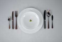 Grüne Erbsen der Diät Stockfotos