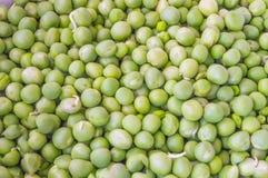 Grüne Erbsen schließen oben Lizenzfreies Stockfoto